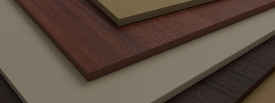 Облицовка торцов мебельных изделий из дсп, лдсп и мдф на высокоэффективном промышленном кромкооблицовочном станке в Твери.